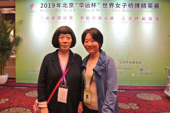 孙铭(左)与搭档王艳鸿