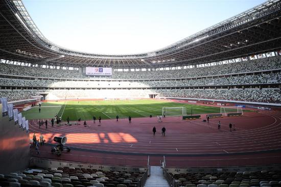 日本东京奥运会主场馆内部