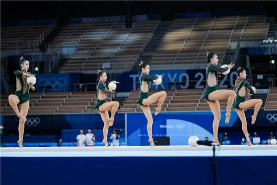 艺术体操集体项目中国第四 队员:平时不控体重