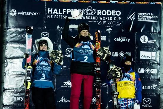 张可欣摘自由式滑雪U型场地世界杯卡尔加里站铜牌