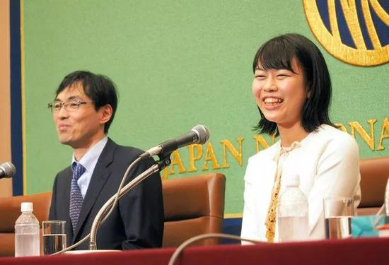 日本围棋史上第三人 上野爱咲美登日本记者俱乐部