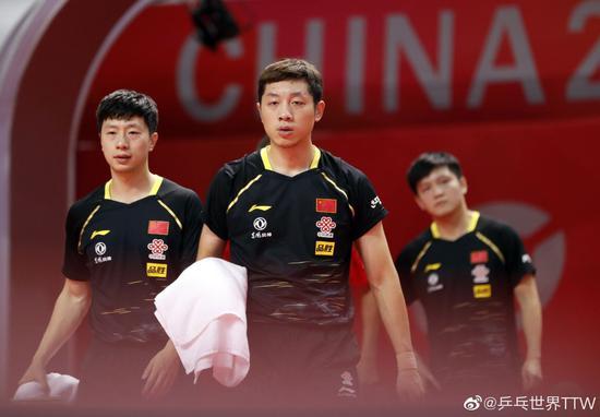 中国男乒六大主力 顺利会师奥运模拟赛男团决赛