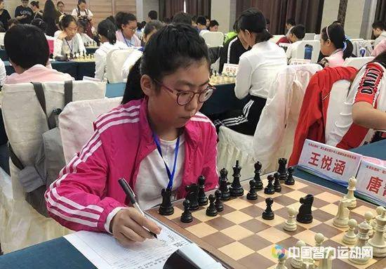 王悦涵在比赛中