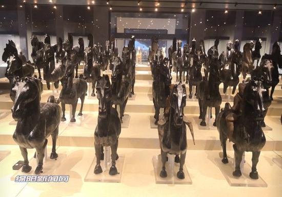 从绵阳市博物馆的汉代马阵看古代