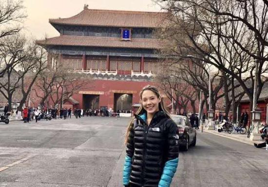 谷愛凌遊覽北京。