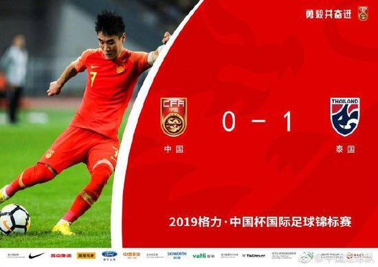 图说:国奥大比分赢球,国足输泰国,虽然对手不同,但足以形成鲜明反差。