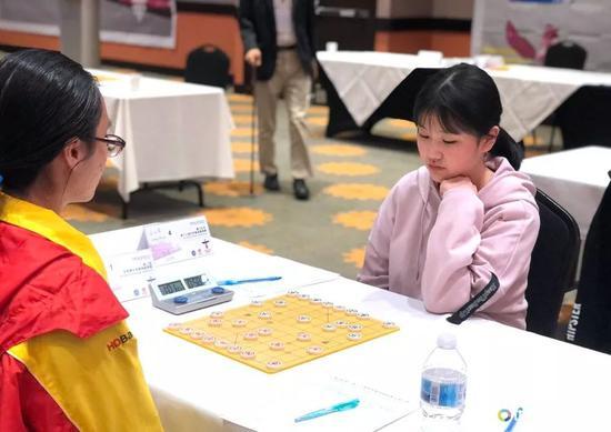 女子U16组王文君在比赛中