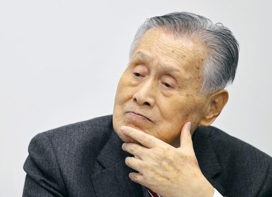 3月23日,东京奥组委主席森喜朗在新闻发布会上。新华社/共同社