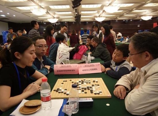 队际赛:中铁总公司围棋队胜珍珑教育围棋教室队