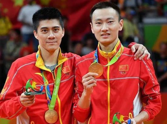 傅海峰与张楠获得里约奥运会冠军