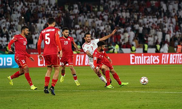 2019亚洲杯揭幕战:阿联酋战平巴林。本文图片 视觉中国