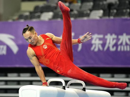 体操全锦赛检验新动作 肖若腾:锻炼目的达到