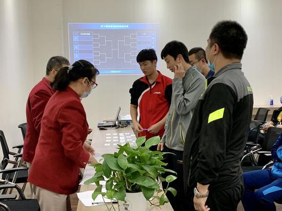 全锦赛男团正赛签表出炉 马龙率北京迎战山东