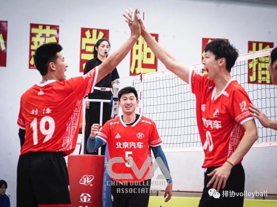 全国男排锦标赛第5比赛日:京浙提前两轮晋级八强