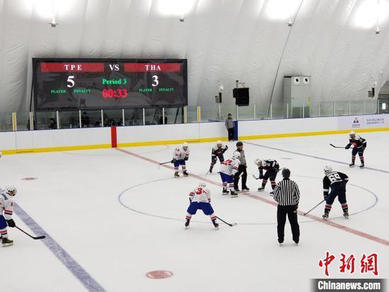 北京2022冬奥会冰球资格赛在三亚开赛