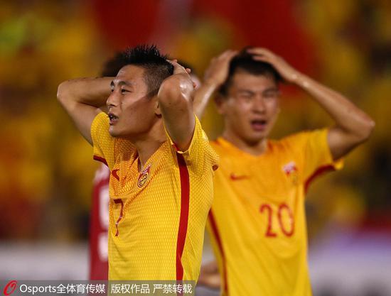 """上届世预赛,国足在叙利亚的马来西亚临时主场最后时刻被""""绝平""""。"""