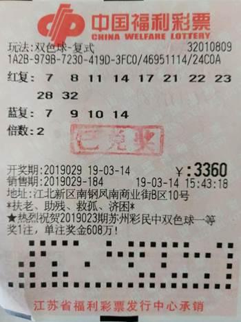 女老板解压全靠买彩票 机选改复式揽福彩6万