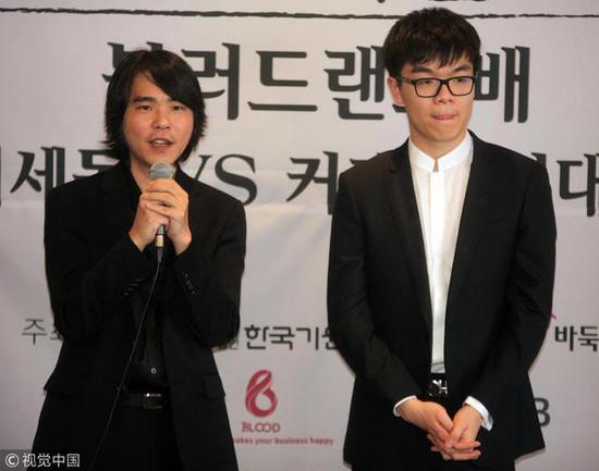 2019韩国三一运动一百周年纪念围棋赛,柯洁战胜李世石。图/视觉中国