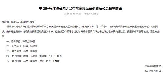 日媒吐槽中国男乒奥运阵容高龄 你知道为什么吗