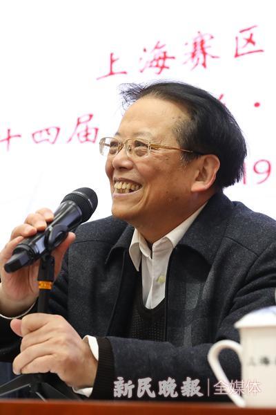 图说:胡繁华在开幕式上 新民晚报记者 李铭珅 摄