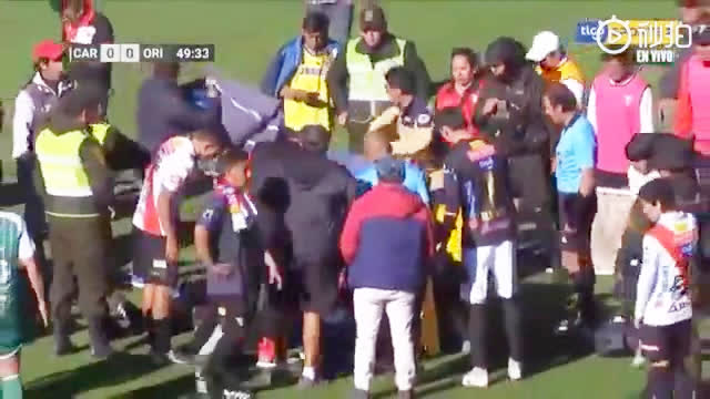 视频-玻利维亚顶级联赛悲剧 主裁突发心脏病倒地去世