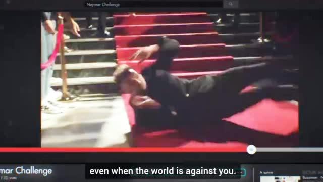 视频-内马尔广告片疯狂自黑 红毯上摔倒原地打滚