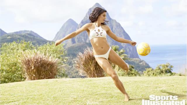 女足贝克汉姆泳装写真