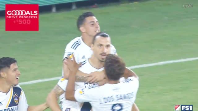 视频-伊布梅开二度+破纪录 洛杉矶银河3-3洛杉矶FC