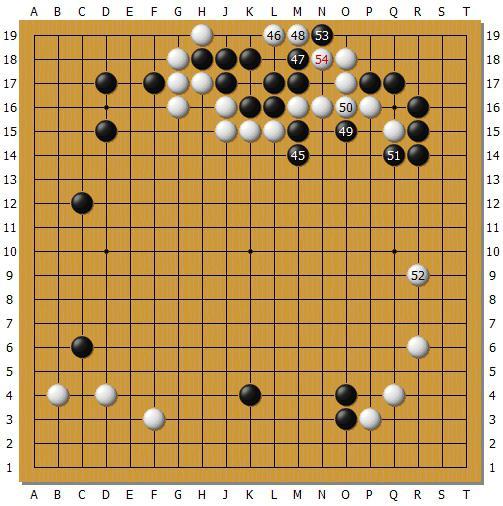 2017年3月10日,绝艺执黑对clover77(尹峻相)