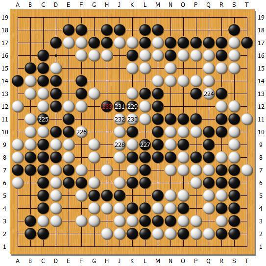 2017年3月22日世界围棋最强战,DeepZenGo执白负朴廷桓