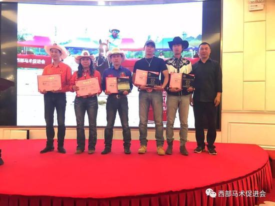 绕桶个人赛B组颁奖
