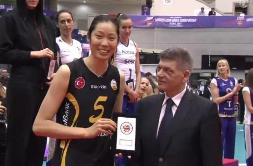 朱婷获得MVP奖