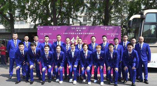 图说:中国国家乒乓球队准备出征世界乒乓球锦标赛 网络图