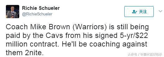 (布朗这个赛季仍然从骑士领薪水。)