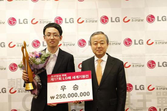 时越首次夺得LG杯冠军