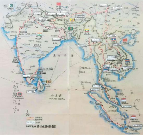 2017年的骑行线路计划图
