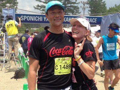 瓦内萨和他的日本丈夫。