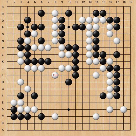 至112手,随着白军一石二鸟的攻守稳招落下,白军主动权已在握,迎来了曙光。