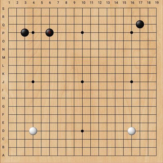 叶桂按常规套路出牌,双方在左下角完成常见定式。