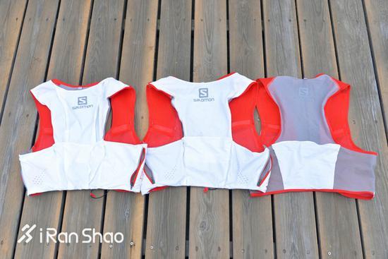 上图中,8升和5升的区别在于,8升将背面的几个口袋增加了面料上的折叠,这样可以加大口袋的延伸面积。