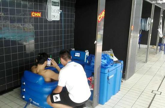 赛后冰池放松30分钟