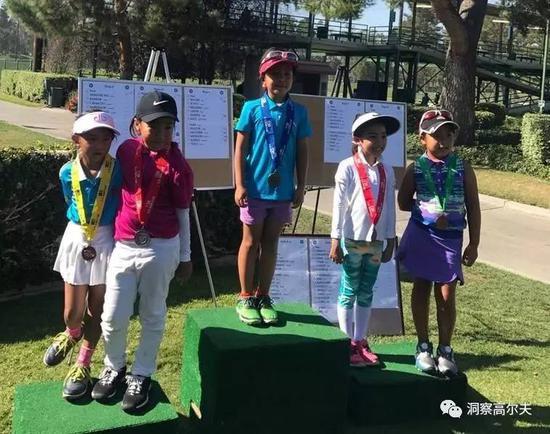 年仅6岁的刘宇婕已经多次在比赛中夺冠,展现出极强的高尔夫运动天赋