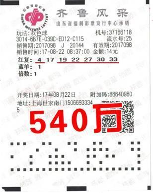 老彩民守号半年中双色球540万:复式投注期期不落
