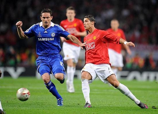 2007-08赛季欧冠决赛,曼联和切尔西上演英超内战图片
