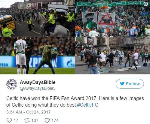 凯尔特人赢得FIFA年度最佳球迷,这是他们最闪光的一些瞬间