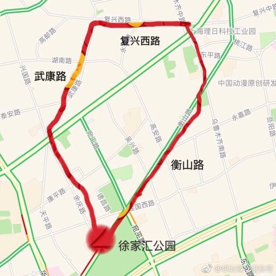 武康路-复兴西路跑步线路