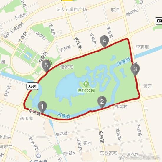 奥森公园手绘地图