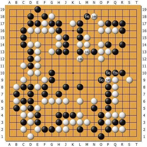 此时唐韦星139连贴凶狠,朴廷桓不敢继续长选择局部做活,被黑143挡住,收获巨大,并且····