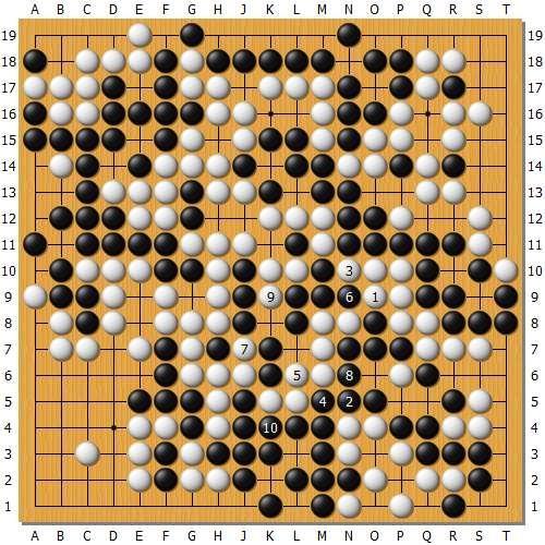 变革图7:末了时候柯洁是可以出棋的,但是黑棋左边消劫也有劳绩,云云仍然是黑盘面10目标场合排场。