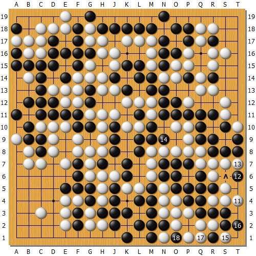 变革图3:接上去部分将构成一个对黑棋有利的缓两气劫,但是白棋没有劫材,黑另有A的自己劫,如许仍然转变不了输赢。